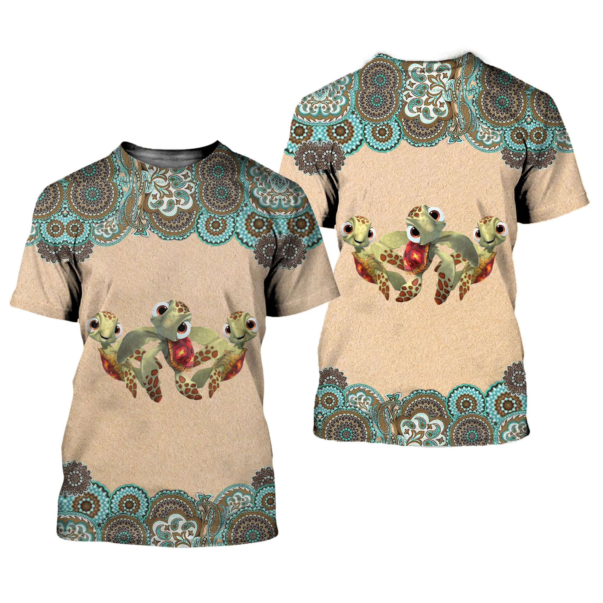 Nemo Turtle 3D All Over Printed Shirts For Men And Women 52