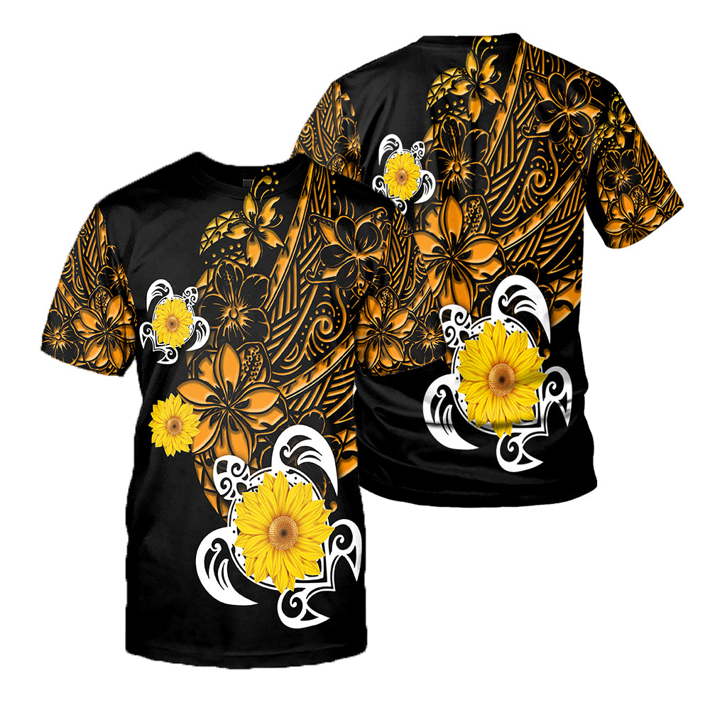 Polynesian Sea Turtle Tattoo 3D All Over Printed Shirts For Men And Women 55
