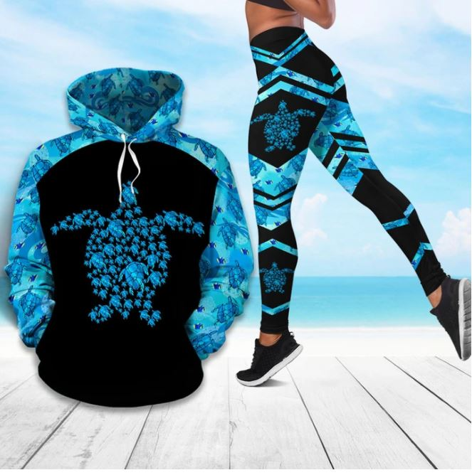I Love Sea Turtle Hoodie & Legging 59