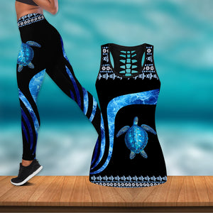 Love Sea Turtle Women Tank Top & Leggings 77