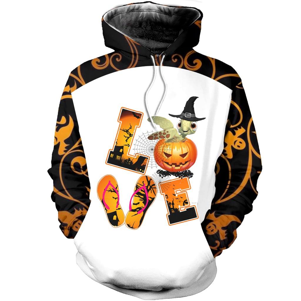 Halloween Love Sea Turtle Combo Hoodie & Legging  105