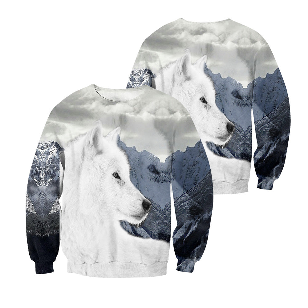 Wolf 3D All Over Printed Shirts For Men And Women 05