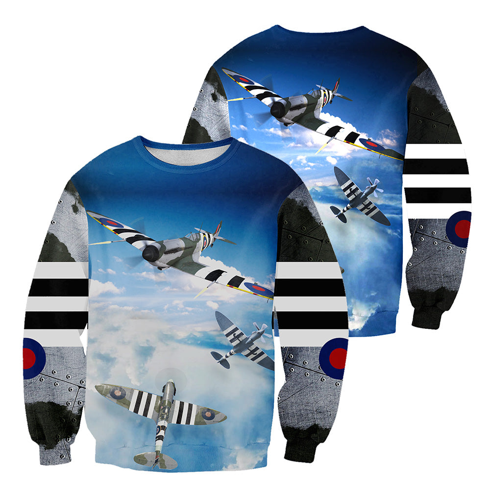 Spitfire 3D All Over Printed Shirts For Men And Women 24