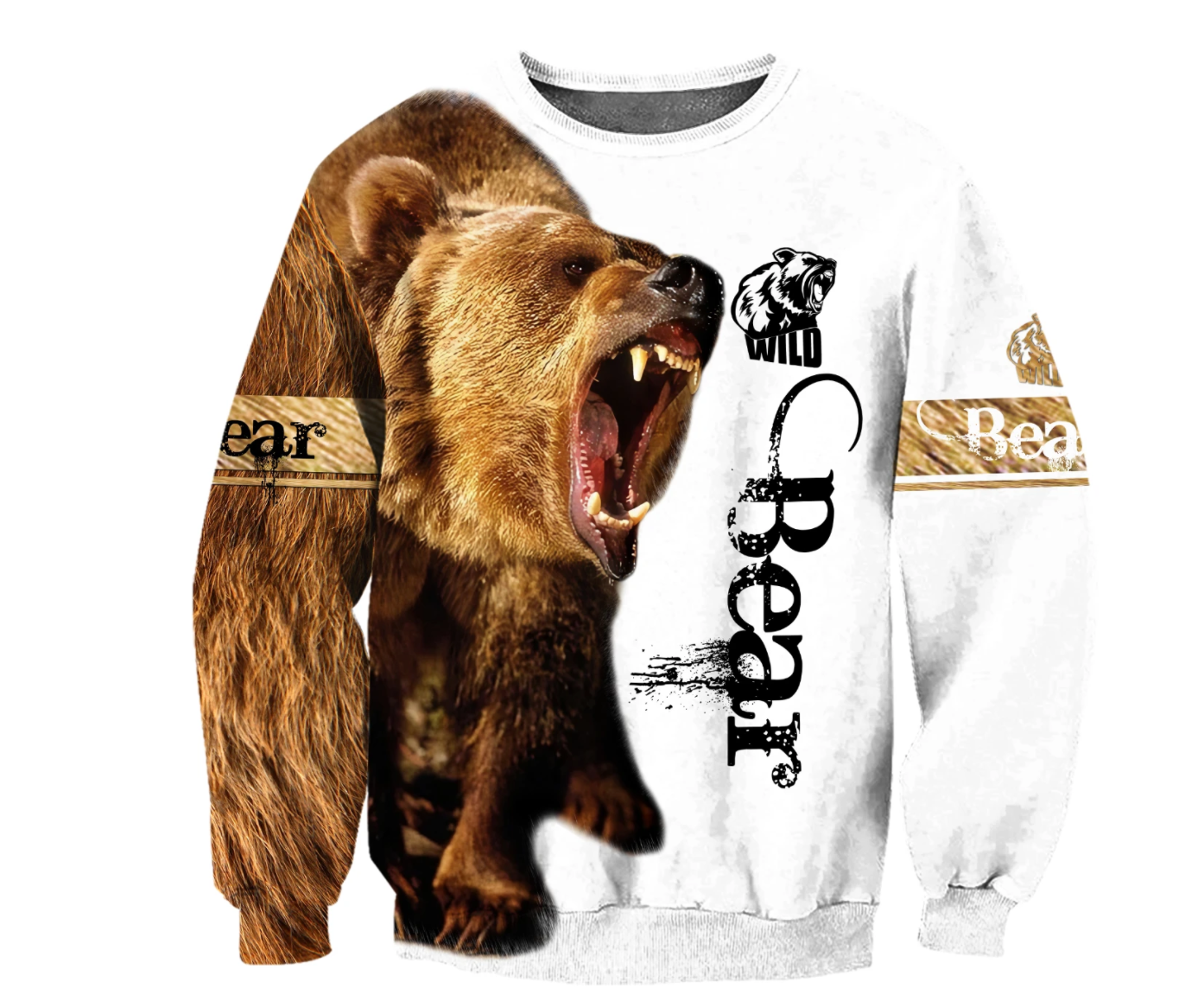 Bear 3D All Over Printed Shirts For Men And Women 02