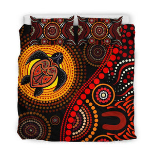 Aboriginal Turtle Sun  Bedding Set 244