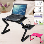 Load image into Gallery viewer, Portable 360 Folding Laptop - Table 2 Holes Cooling Laptop Stand Desk Holder with Mouse