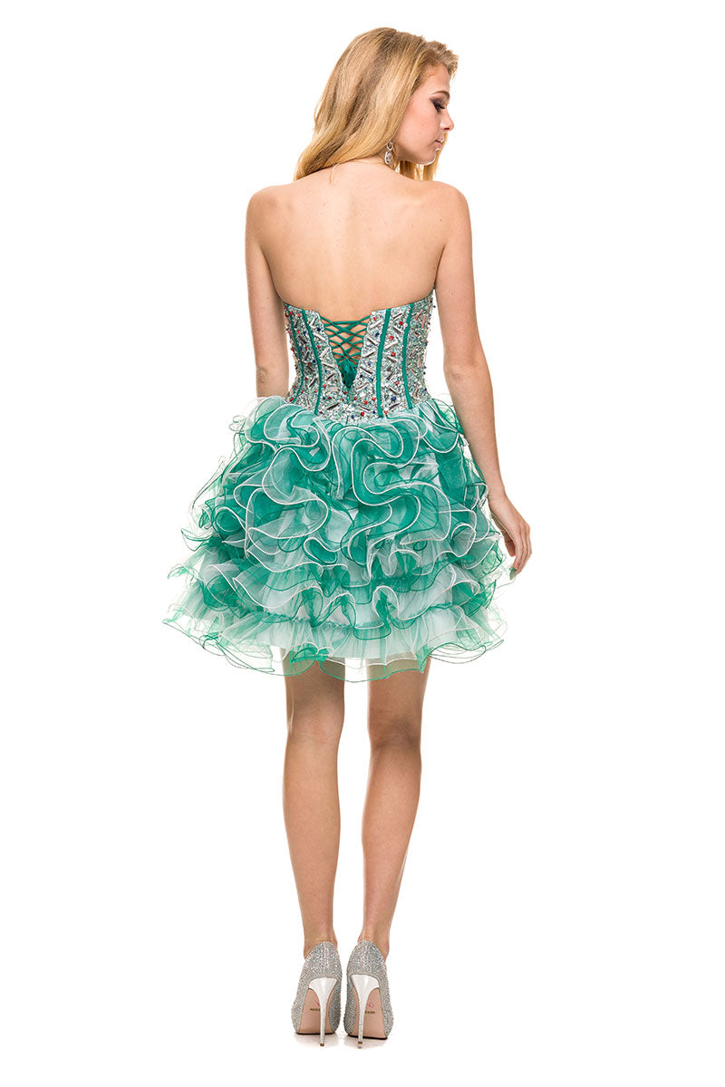 TULLE SHORT EMBELLISHED BODICE HOMECOMING DRESS 2825 BY NARIANNA