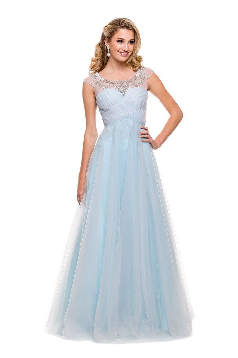 PROM A-LINE, LONG DRESS, TULLE 3131 BY NARIANNA