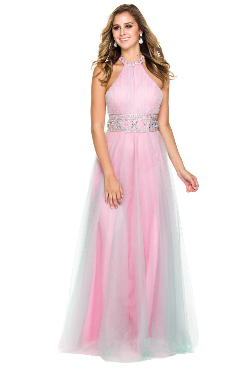 LONG, HALTER NECK, PROM, A-LINE_3135 BY NARIANNA