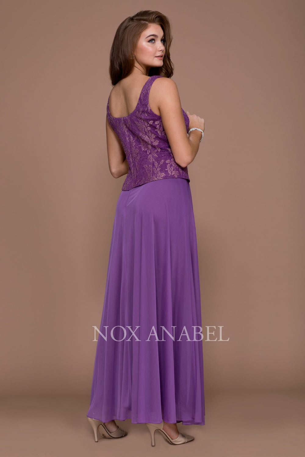 LONG, MOTHER OF THE BRIDE, TWO PIECE, 5076 BY NARIANNA