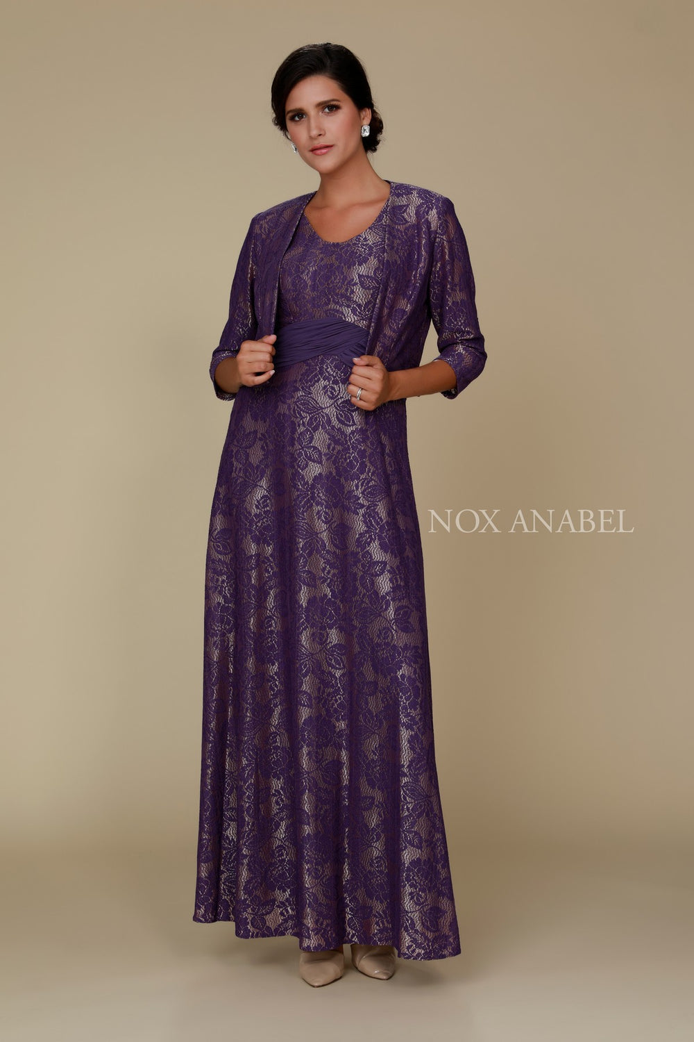 MOTHER OF THE BRIDE AND GROOM DRESS WITH SHORT JACKET 5139 BY NARIANNA