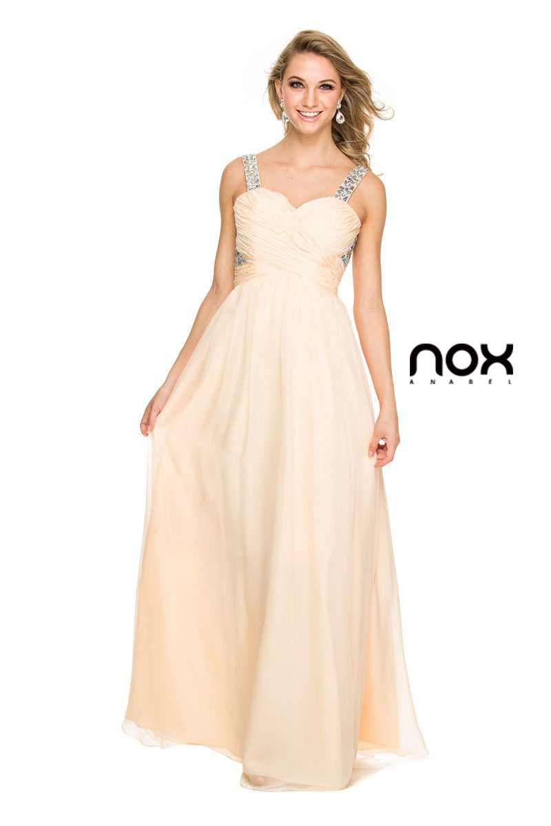 LONG CHIFFON PROM DRESS 8140 BY NARIANNA