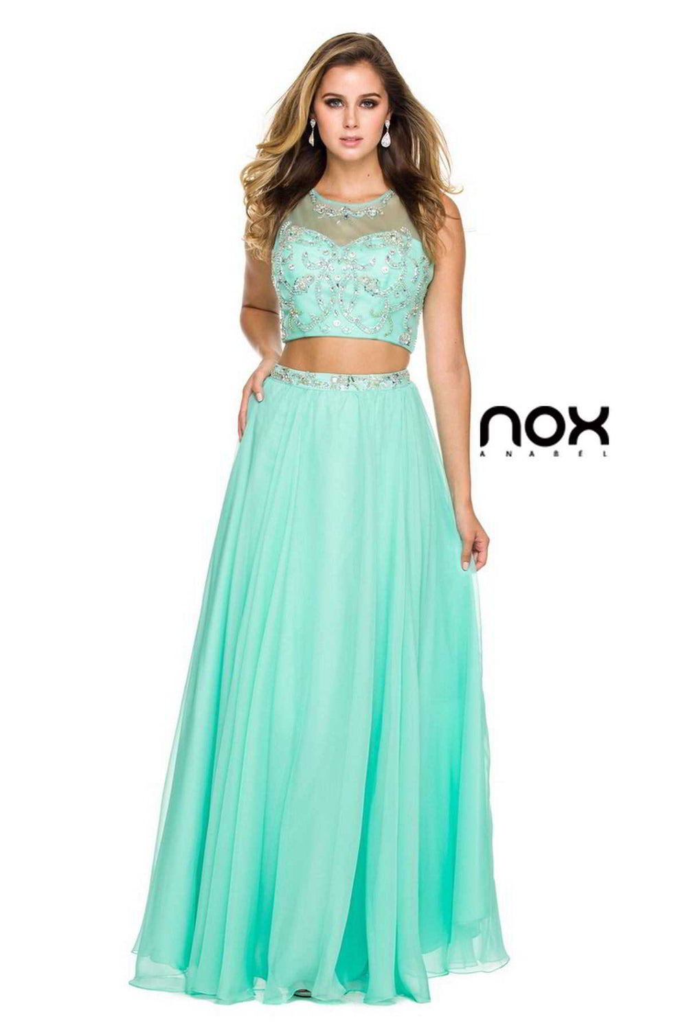 LONG CROP TOP PROM DRESS 8152 BYNARIANNA