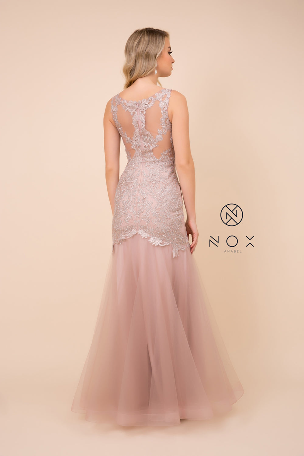 Embroidered_Bodice Long Mermaid Dress_A396 BY NARIANNA