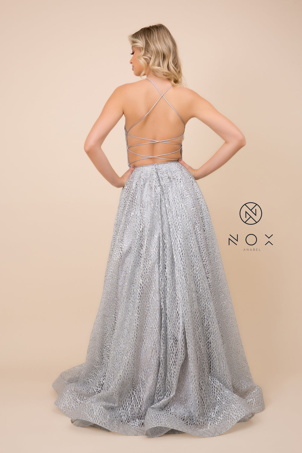 GLITTER LONG BALL GOWN_R349 BY NARIANNA