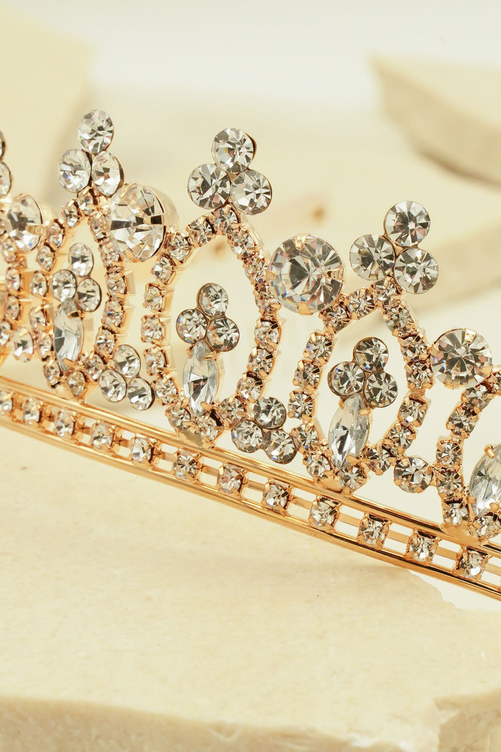MULTI SHADES CRYSTAL BRIDAL TIARA RHINESTONES CROWN WITH COMB FOR BRIDAL WEDDING BY NARIANNA