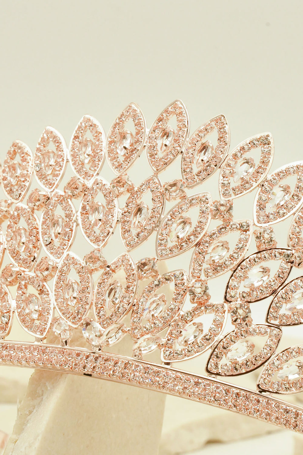 FEATHER STYLE DIAMANTE AND ZIRCON TIARA FOR BRIDAL WEDDING AND PARTIES BY NARIANNA