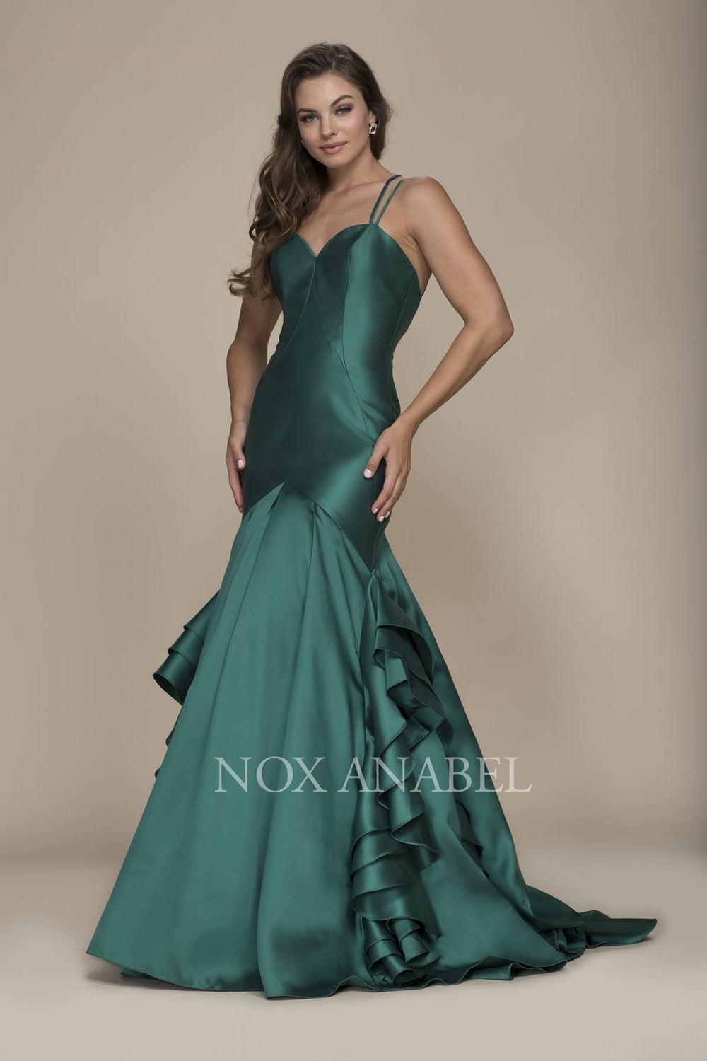 C034 - Elegant V-Back Sweetheart Bodice with double Spaghetti Straps Crossback Prom dress
