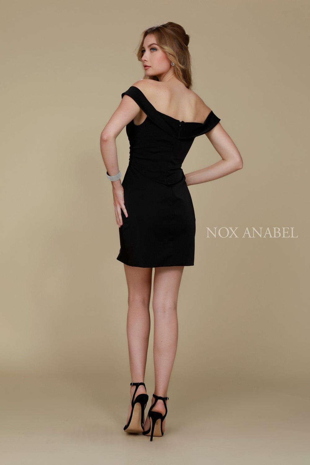 SHORT AND SEXY OFF SHOULDER SWEETHEART COCKTAIL DRESS Q601 BY NARIANNA