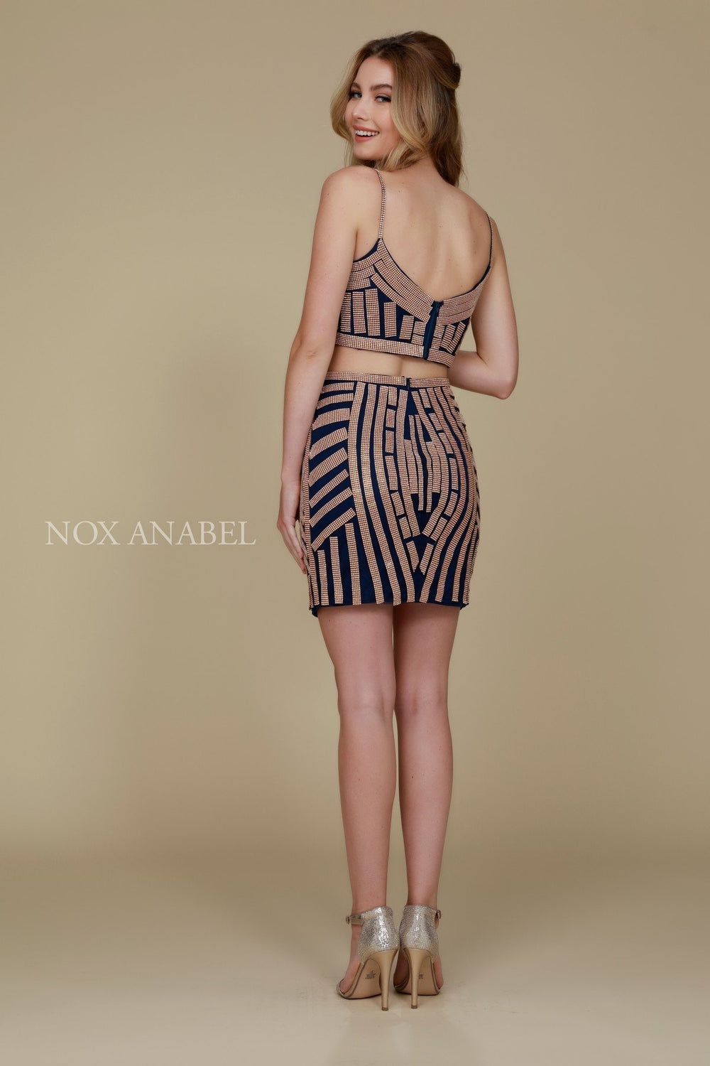 TWO PIECE ELEGANT SHORT PROM DRESS R650 BY NARIANNA