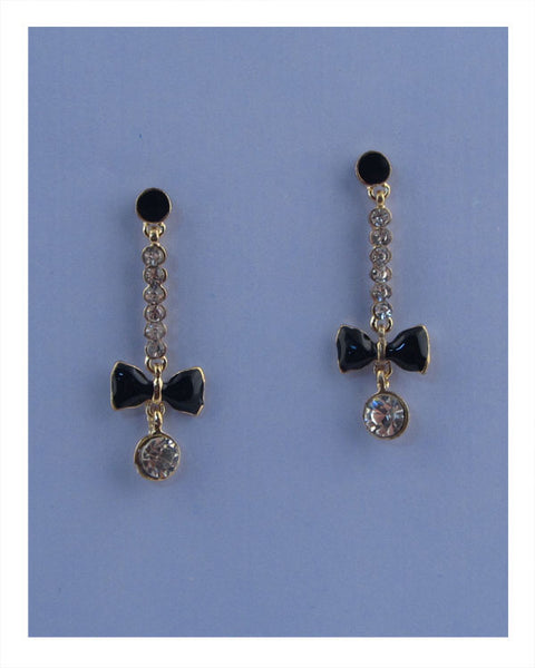 Drop bow earrings