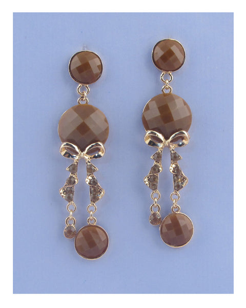 Faux stone chandelier earrings