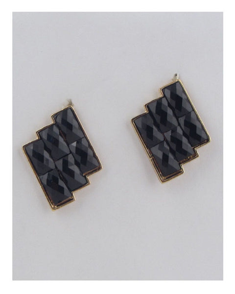 Faux stone earrings