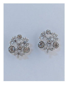 Multi rhinestone stud earrings
