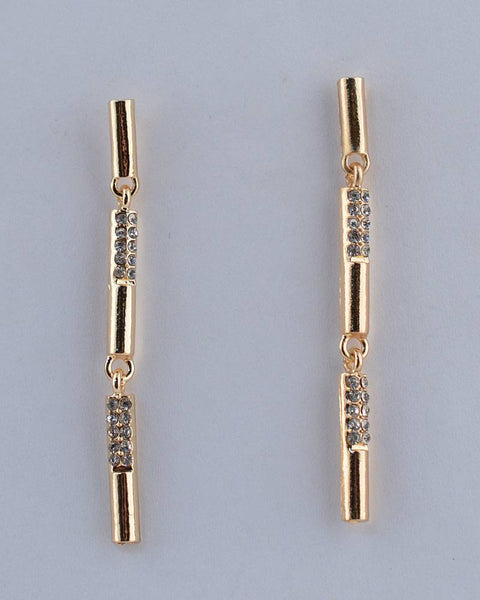 Rhinestone Bar Drop Earrings
