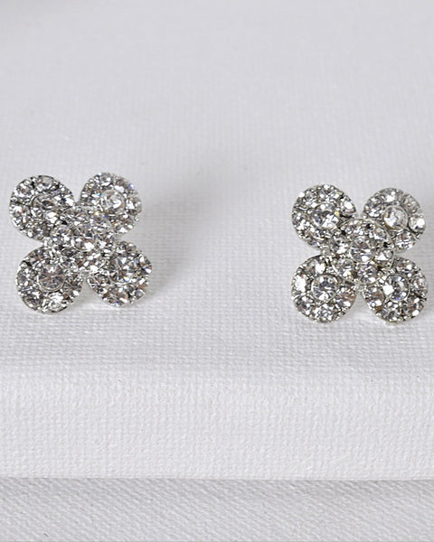 Floral Pattern Stud Earrings