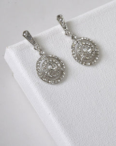 Circular Design Drop Earrings