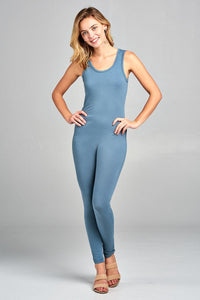 Ladies fashion sleeveless bodycon jumpsuit