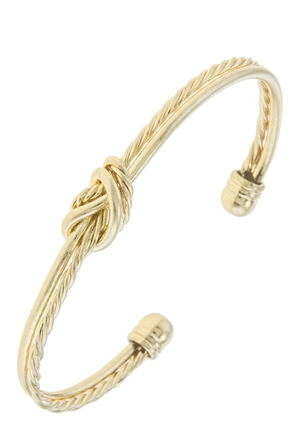 Knotted rope cuff bracelet