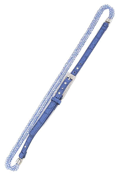 Bead crystal belt