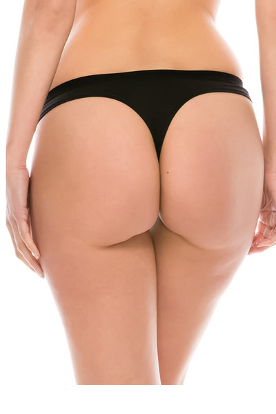 Ladies micro suede thong