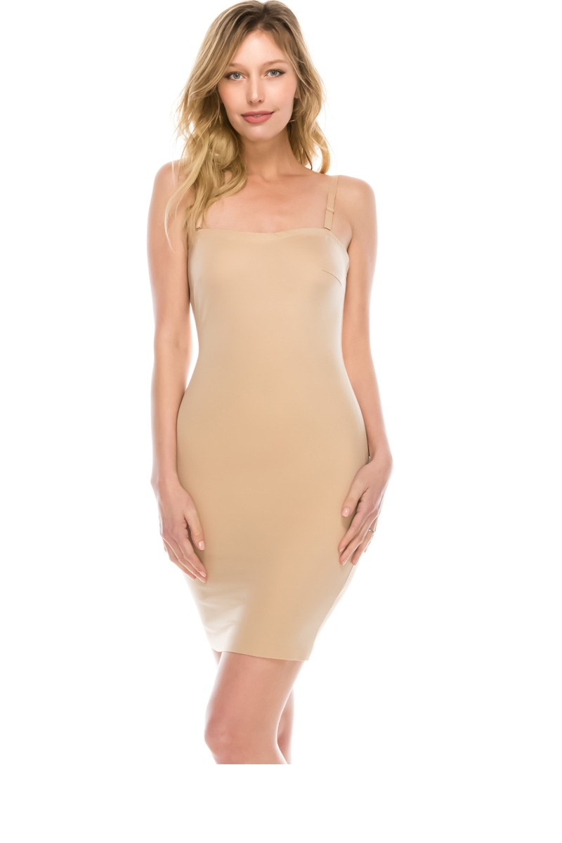 Ladies seamless shaping slip dress