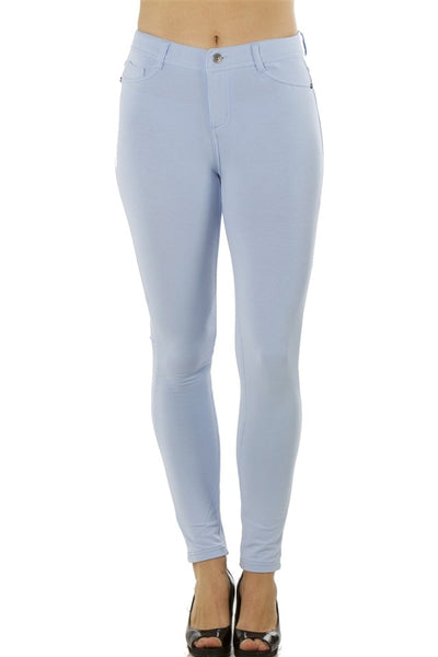 Ladies fashion stretch cotton blend leggings
