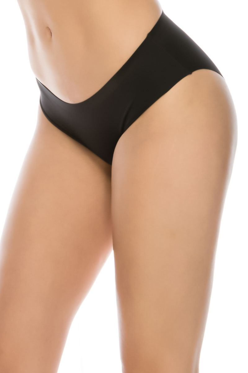 Ladies seamless shapewear brief lasercut waistband