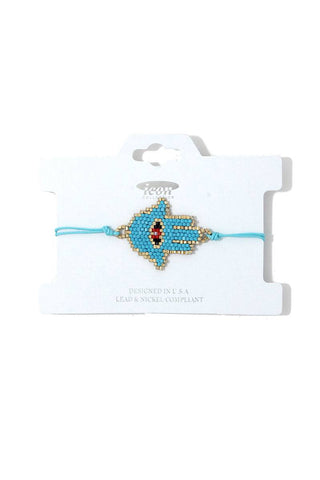 Hamsa Hand Beaded Adjustable Bracelet
