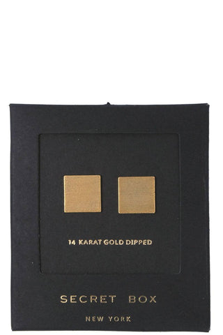 Square Shape Post Earring