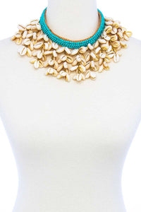 Fashion Multi Sea Shell Chunky Necklace