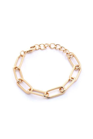Metal Oval Link Chain Bracelet