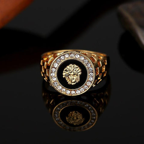 18k Gold Medusa Ring - High Crown - Jewelry store