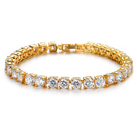 Single 14k Gold Double Layer Tennis Bracelet - High Crown - Jewelry store