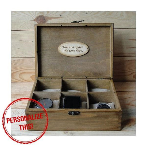 Rustic Wooden Watch Box - Groomsmen Gift Idea