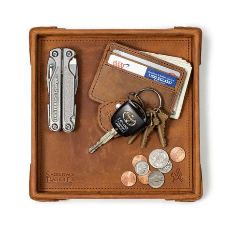 Hard Leather Valet Tray - Unique Groomsmen Gift Idea