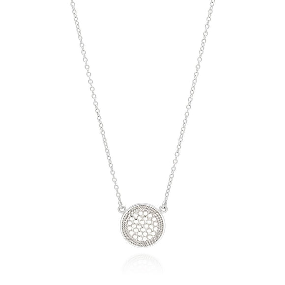 Sterling Silver Reversible Disc Necklace Two Tone (Anna Beck 2019)