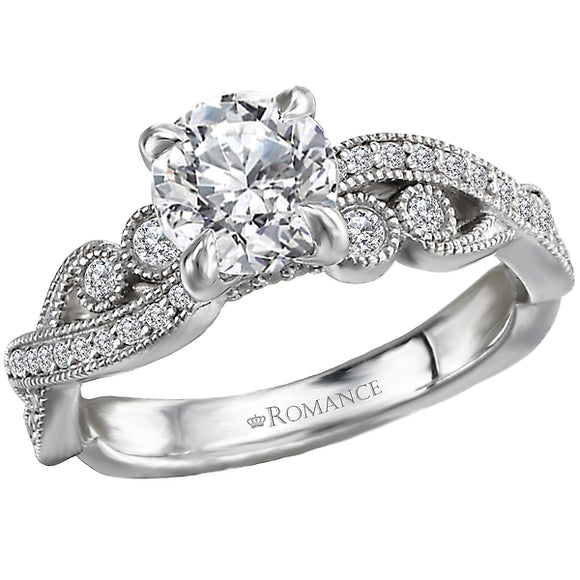 Diamond Semi-mount Engagement Ring (Romance Bridal 2021)