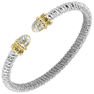 Buy Vahan Bracelets | Sterling Silver & 14K Gold | 0.11cts Diamonds | 4mm Width | Shop Avonlea Jewelry only at Avonlea Jewelry.