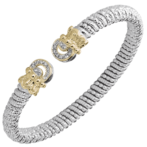 Buy VAHAN Sterling Silver & 14K Gold - 0.14cttw Diamonds - 6mm Width | Shop Avonlea Jewelry only at Avonlea Jewelry.